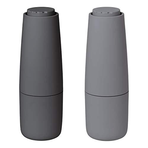 Blomus Salz & Pfeffermühle SALPI, Salzmühle, Mühle, Gewürzmühle, Kunststoff, Keramik, Sharkskin + Magnet, 180 ml, 63960