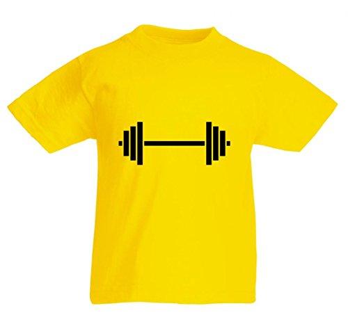 Camiseta de pesas, entrenamiento de poder, ejercicios, saludable, pesado, fitness, entrenamiento, deportes, estilo de vida, atletas, para hombre, mujer, niños, 104 – 5 XL amarillo Para Hombre Talla : Medium