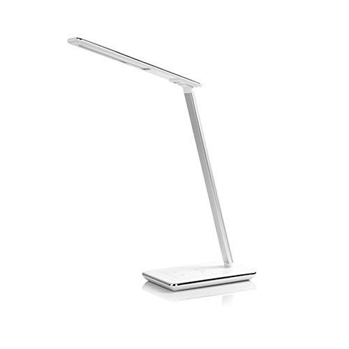 YQHWLKJ Qi Carga inalámbrica Lámpara de mesa LED 48Pcs Puerto USB Usb Lámpara de lectura Brillo Protección ocular ajustable 4 modos Lámpara de mesa