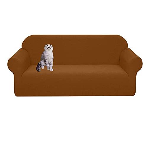Wasserabweisender Sofabezug,Hochelastischer Couchbezug für 3-Kissen-Couch Rutschfester weicher Möbelschutz Kratzfester Jacquard-Sofabezug für Haustiere Katze Hund-L-Sofa (74-90 Zoll)-Hellblau