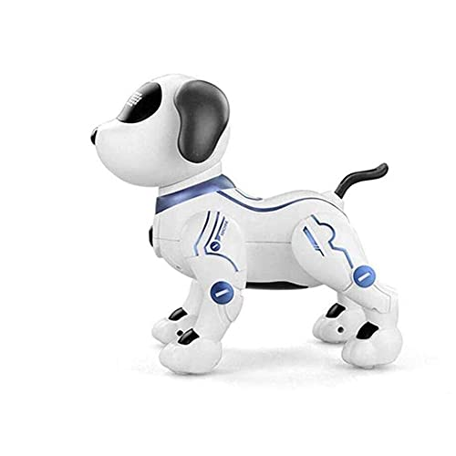 GAO-bo Regalo para Niños, Perro Robot De Juguete De Control Remoto, Perro Electrónico Inteligente Inteligente para Niños Rompecabezas Inalámbrico De Voz