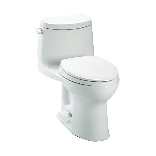 Toto K-MS604114CEFG#01 UltraMax II 1.28 GPF Elongated Toilet with Slow Close Seat, Cotton, 1-Piece