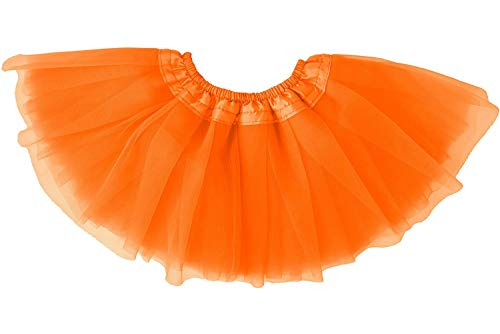 Dancina Soft Toddler Tutu Skirt 6-24 Months Orange