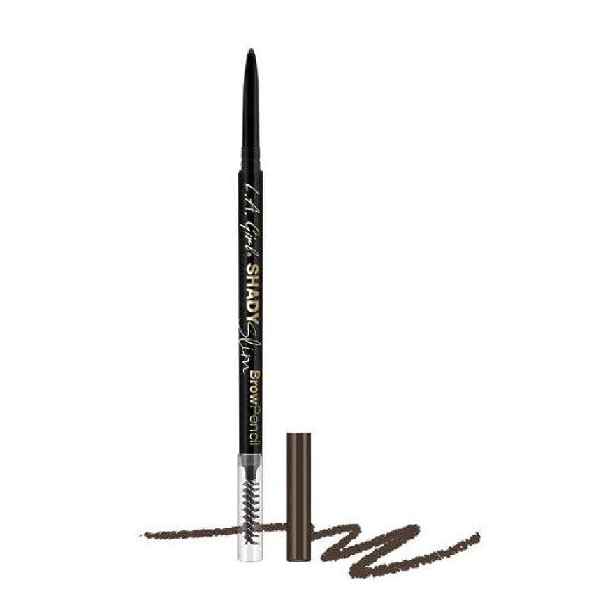 表現蚊包帯(6 Pack) L.A. GIRL Shady Slim Brow Pencil - Brunette (並行輸入品)