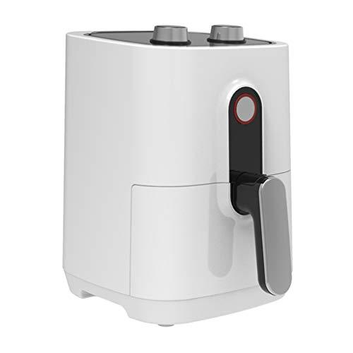 HYJBGGH Freidora De Aire Caliente 2,8 L De Capacidad, Freidora Sin Aceite Inteligente, Ajuste De Temperatura Y Sincronización, Cesta Antiadherente Dividida Extraíble (Color : Blanco, Size : 220V)