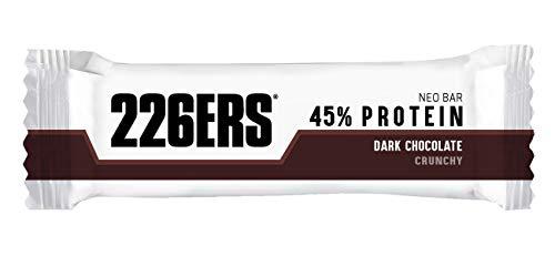 226ERS Neo Bar Protein   Barritas de Proteína Enriquecidas con Magnesio y Vitaminas, Snack Saludable Sin Gluten, Chocolate Negro - 1 barra