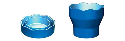 Faber-Castell 181510 - Wasserbecher CLIC & GO, faltbar, blau, 1 Stück