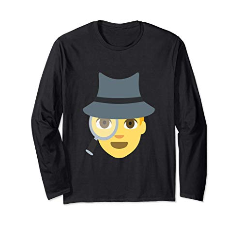 Emoji Spy Sleuth Cute Detective Inspector Lupe Langarmshirt