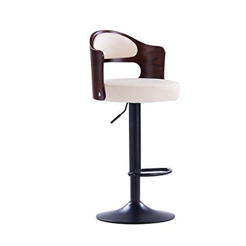 Leather Chair Lift Rotary Barkruk Counter Hoogte Kruk, Beige Footrest Kruk, in hoogte verstelbaar 408 (Color : Beige)