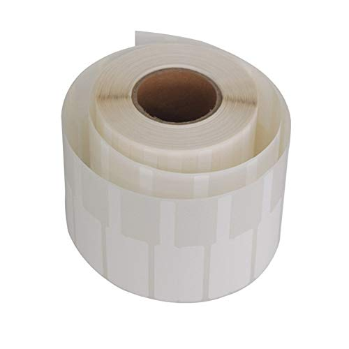 Limeow Kabeletiketten Weiß Kabelkennzeichnung Drahtetiketten Reißfeste Kabeletiketten Aufkleber Kabelkennzeichnungsetiketten für den Multifunktions-Kopierer des Druckers Weiß 1 Rolle 500 Stück