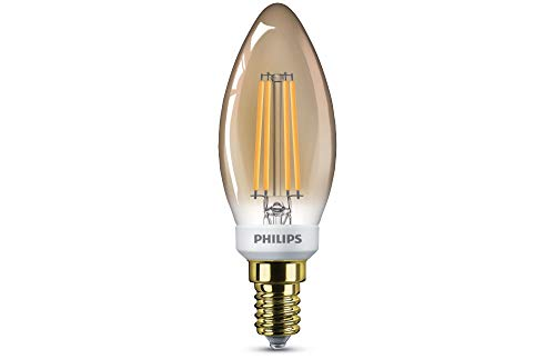 Philips Lighting 8718696814093 LED-kaars, filament goud, 32 W, E14, 2700 K dimbaar