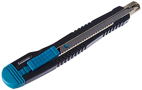 Wolfcraft 4141000 4141000-1 cúter separables Standard con guía de Acero Inoxidable y Cuchilla de 9 mm, depósito con 3 Hojas de Recambio, Multicolor