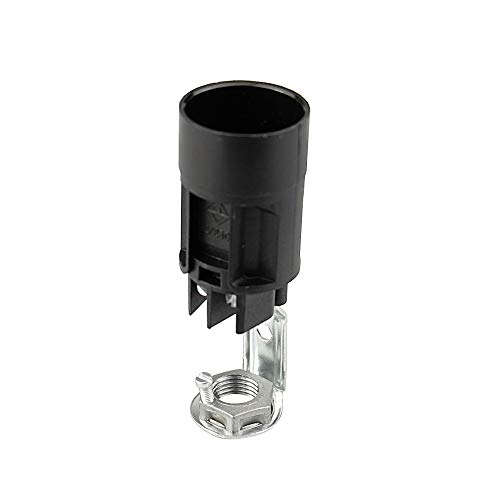 Arditi - Portalámparas termoplástico monocuerpo con casquillo E14, con cuadrícula metálica, 1765/Nip/Ne/M/Ean1/Pde/E14-009712-009963