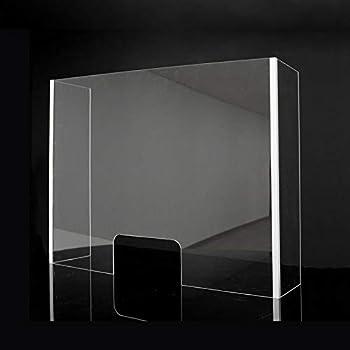 Mampara Metacrilato Plástico Transparente con laterales | Pantalla separadora metacrilato con ventana (100x90x30cm): Amazon.es: Salud y cuidado personal