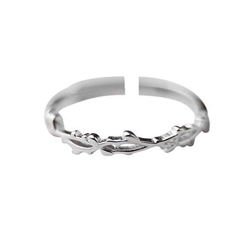 LYLLXL Offene Ringe Für Damen,Vintage Einstellbare Öffnen Silber Dornen Zweige Modellierung Weihnachten Geschenk Schmuck Für Hochzeit Party Frauen Männer Paare