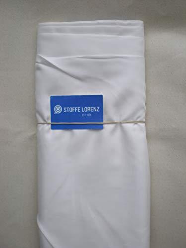 Futterstoff Meterware Taft - Weiß