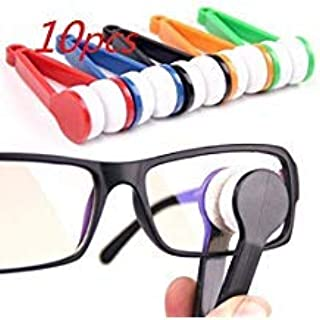 JDYYICZ 10 pcs Mini Sun Glasses Eyeglass Microfiber Spectacles Cleaner Brush Cleaning Tool,Random Color