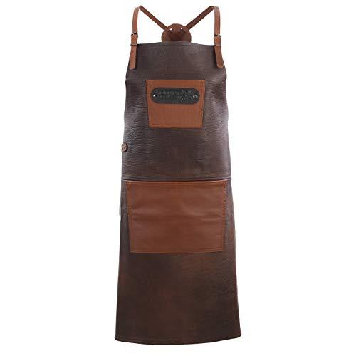 Black Forest Fox Büffel Leder Grillschürze X BBQ Kochschürze Küchenschürze
