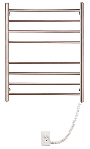 Myson WPRL08 8-Bar Wall Mount Towel Warmer, Bright Finish, Pearl