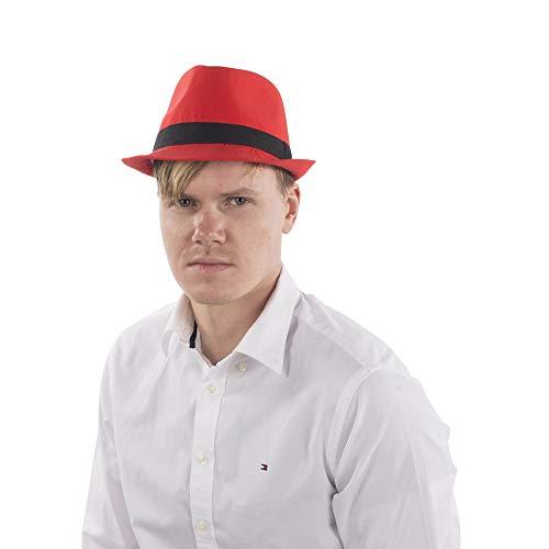 Dress Up America Fedora Chapeau Rouge Taille Unique