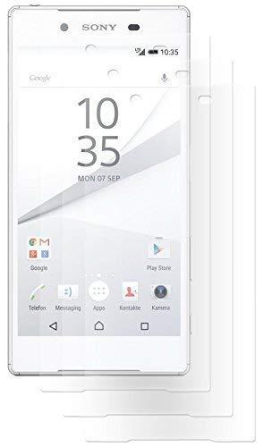 ENERGMiX Folie kompatibel mit Sony Xperia Z5 (E6653) Kristallklar (3 Stück) Schutzfolien Displayfolie