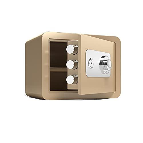 Caja de seguridad pequeña Caja de seguridad Caja de seguridad para el dinero Fuego y llave de código mecánico impermeable para bloquear el cajón de efectivo Caja pequeña de alta caja de caja fuerte co