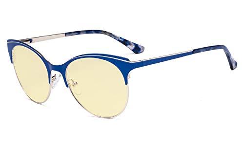 Oogbeschermer Blauw Licht Bril - Digitale Bril voor Vrouwen Blokkeren Computer Scherm UV Stralen - Anti Glare Filter Verminderen Oog Stam Kat Oog Ontwerp
