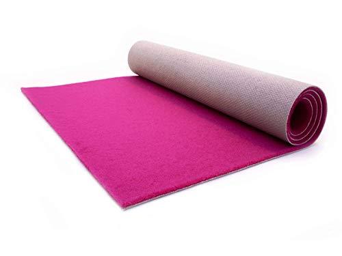 Primaflor - Ideen in Textil Eventteppich rutschfest Salsa - 1,00m x 8,00m Pink, Hochzeitsläufer Hochzeitsteppich VIP-Teppich Schwer Entflammbarer Teppichläufer Empfangsteppich
