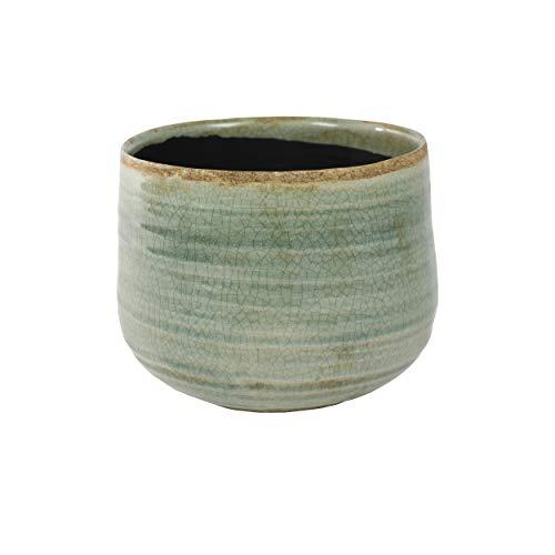Pot de fleurs rond émaillé en céramique Ø 18 cm Pour intérieur