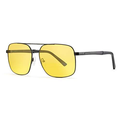 Cyxus Herren Polarisierte Sonnenbrille Fahrerbrille Nachtsichtbrille, Gelbe HD mit UV 400 Schutz