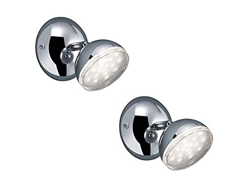 Bolou Lot de 2 spots muraux LED orientables Chromé