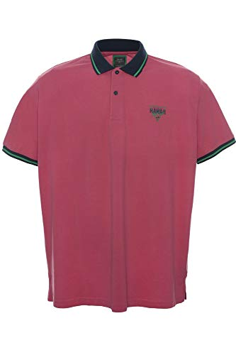 Kitaro Poloshirt Polo Shirt Hemd Herren Kurzarm Baumwolle Piqué Extra Lang Tall, Farbe:pink, Herrengrößen:XLT