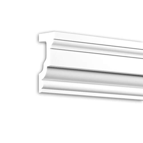 contorno finestre esterne PRO[f]home® - Davanzale 482202 cornice per esterno contorno finestre elemento di facciata design classico senza tempo bianco 2 m Profhome