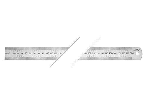 HELIOS-PREISSER Stahlmaßstab biegsam EG-Prüfzeichen Genauigkeit II, 500 x 30 x 1,0 mm, 0460208