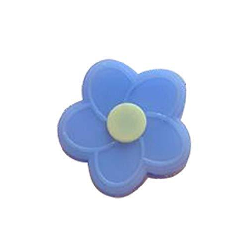 Ynnxia datakabel beschermer USB-kabel beschermer oortelefoon kabel beschermer accessoire zachte silicagel kleine bloem beschermer voor Apple iPhone iPad datakabel Blue2 S