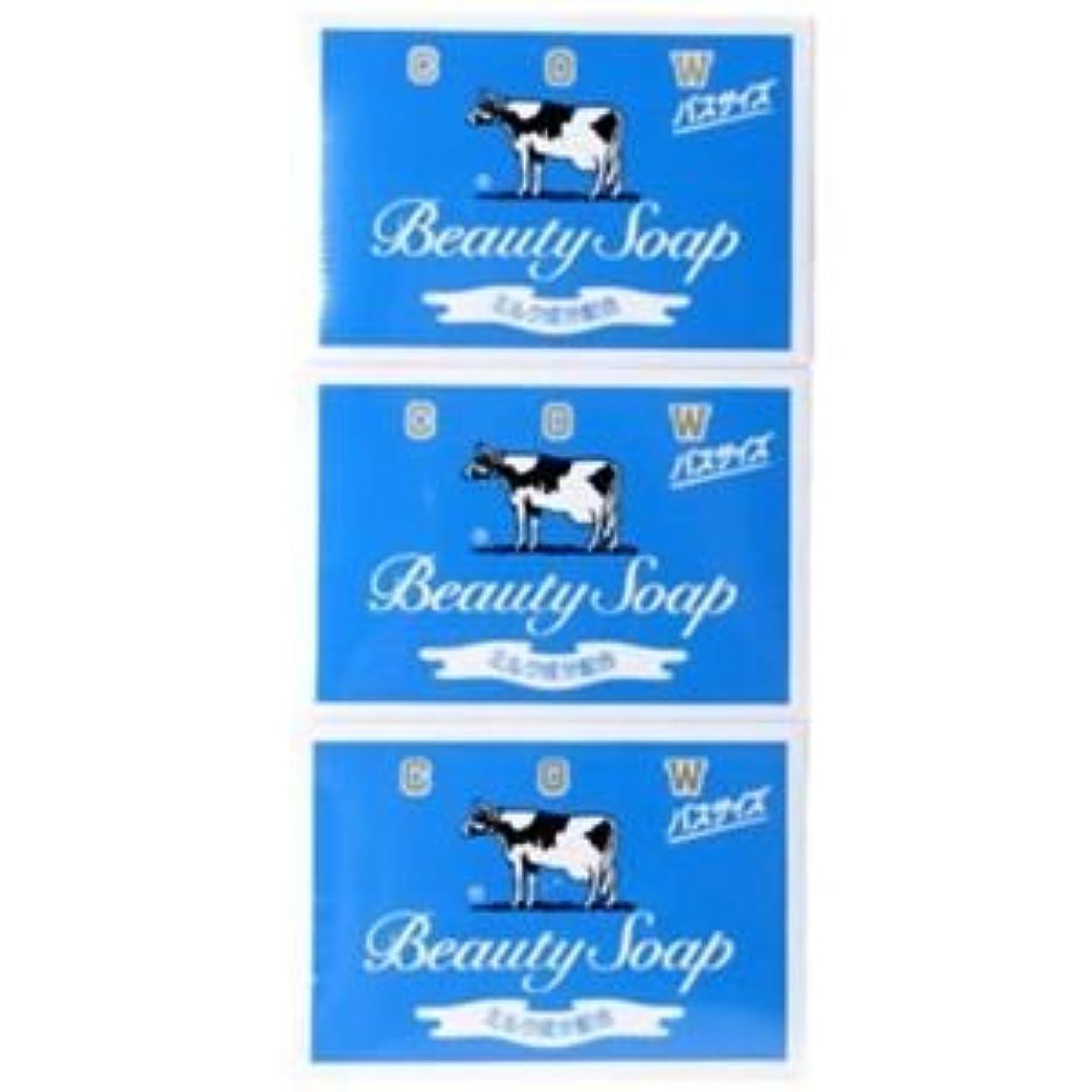 そのようなデコレーションまどろみのあるカウブランド 牛乳石鹸 青箱 バスサイズ 135g×3個入 10セット