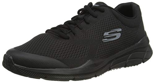 Skechers Equalizer 4.0, Herren Sneaker, Blau (Black Engineered Mesh/Hot Melt/Trim Bbk), 47.5 EU (12 UK)