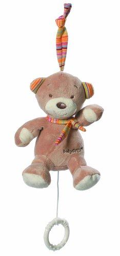 Fehn 160055 Mini-Spieluhr Teddy / Kuscheltier mit integriertem Spielwerk mit sanfter Melodie