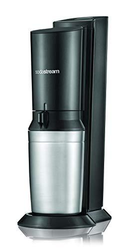 SodaStream CRYSTAL 2.0 Glaskaraffen Wassersprudler zum Sprudeln von Leitungswasser, mit spülmaschinenfester Glasflasche für Sprudelwasser. inkl. 1 Zylinder und 2 Glaskaraffen 0,6l; Farbe: Titan/Silber - 2