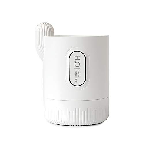 Raburt Mini Humidifier Single Room Humidifiers with Night Light Portable Cactus Air humidifier for for Yoga Office Bedroom Baby