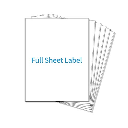 POLYSELLS Shipping Labels with Self Adhesive, 8.5 x 11 Inches, White, for Laser & Inkjet Printers (500 Labels)