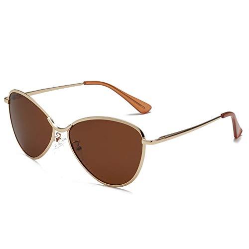 Gafas de Sol Gafas De Sol De Ojo De Gato Triangulares con Forma De Mariposa Vintage Sexis para Mujer, Gafas De Sol De Piloto, Montura Metálica para Hombre, Tonalidades Rojas Y Azules Retro C