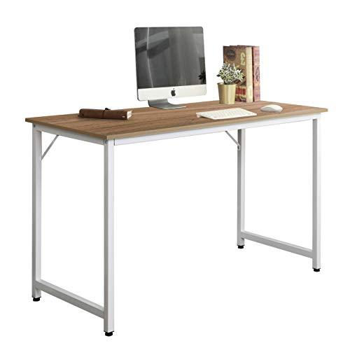 sogesfurniture Escritorio para Ordenador Moderno Mesa de Computadora Escritorio de Oficina Mesa de Trabajo Mesa de Estudio de Madera y Acero, 100x50x75cm, WK-JJ100-OK-BH