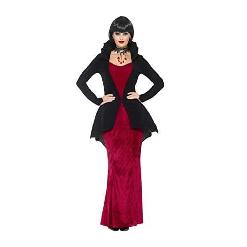 SMIFFYS Costume deluxe vampira regale, Rosso, con vestito e giacca