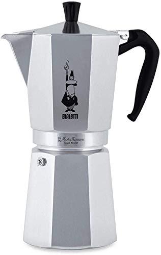 Bialetti Moka Express Espressokocher, Aluminium, Alu, 18 Tassen
