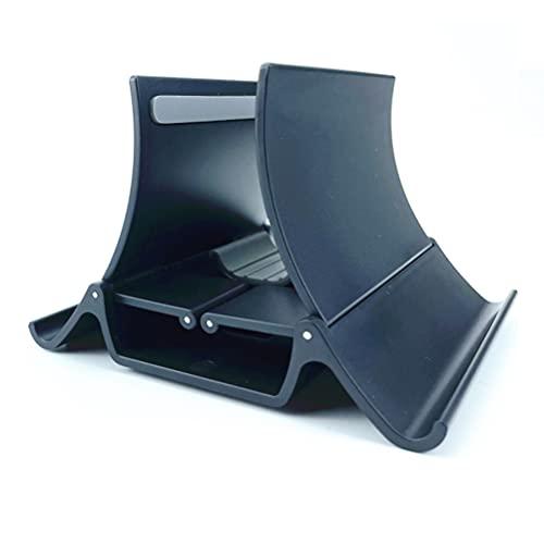 Soporte vertical de escritorio Hahepo ajustable, ancho automático, para ordenador portátil, ahorra espacio, para teléfonos móviles, tabletas