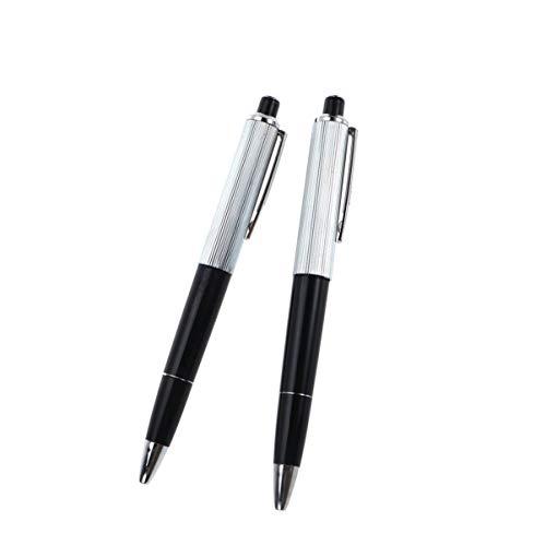 NUOBESTY Lustiger Elektroschock-Stift, 5 Stück, zum Schreiben, schwarzer Kunststoff-Kugelschreiber, Kugelschreiber, Streich, Witz, Trickspielzeug, lustiges Gadget für Schule, Studenten