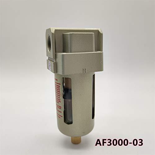 oil filter wrench AF3000-02 G1/4 AF3000-03 G3/8 Air source processor Copper filter Air pump air pump filter Oil and water separator oil filter pot (Color : AF3000 03)