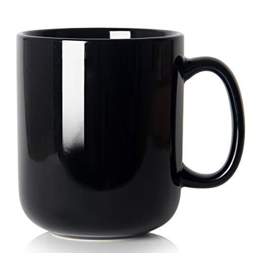 700ml groß Tasse, Smilatte M016 einfache Keramik Porzellan Boss Kaffeetasse Becher mit Griff für Papa Männer, Schwarz