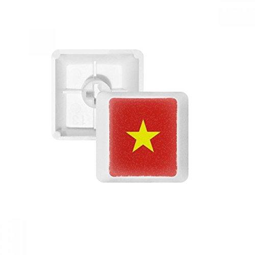 Vietnam Nationalflagge Asien Land PBT Tastenkappen für mechanische Tastatur, Weiß OEM ohne Markierung Mehrfarbig Mehrfarbig R3
